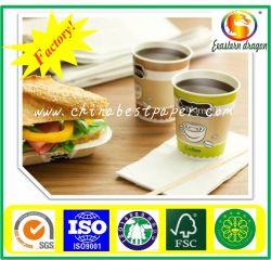 2/s revestido polaco Cup stock/PE revestidos de papel de capa/Placa policoated Placa alimentar