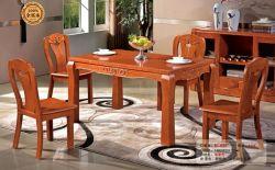 Tabla 1 y 4 laterales sillas de madera maciza mesa de comedor