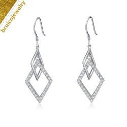 Alte Art-Großverkauf-Dreieck-Form baumeln Absinken-Ohrring mit Diamanten