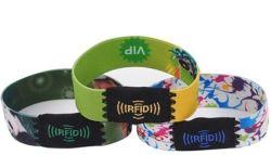 Tecidos Stretch reutilizáveis pulseira RFID MIFARE Ultralight C BRACELETE NFC