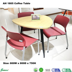 Maple Modern Triangle Design Metal Leg Conference Room Talking Desk