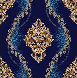 Damasco Vinly clásico patrón de papel tapiz de la fábrica China