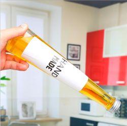 Bottiglia di vetro della bevanda di figura conica che impacca con il coperchio a vite del metallo