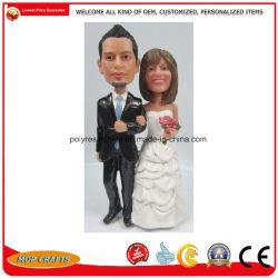 Mariage Polyresin Bobble Bobblehead Souvenirs de la tête de cadeaux promotionnels