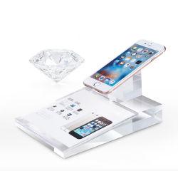 De acrílico transparente de lujo titular de la pantalla del teléfono móvil