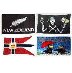 Цифровая печать любого размера и шелк печатной рекламы Рекламные дешевые полиэстер флаг Custom