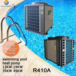 25~300cubeメートルの鉱泉のプールのサーモスタット45deg c 12kw/19kw/35kw/70kw/105kw Cop4.62のAnti-Corrosionチタニウムの水泳のプールのヒートポンプを保ちなさい