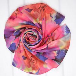 方法女性のCutomizedデジタルは絹のスカーフを印刷する100%