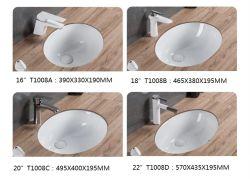 """20"""" de Cerâmica Sanitária Lavatório de bancada para banheiro T1008c"""
