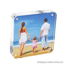 Borda Arredondada em acrílico de alta qualidade de vidro plástico de moldura fotográfica do magneto