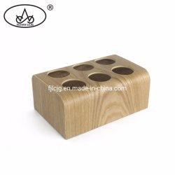 Casella di legno del condimento del supporto della cremagliera di memoria della spezia del pepe