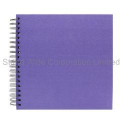Trozo de papel artesanal blanco espiral Libro Álbum, Caja de regalo