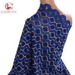 고품질 Candlace에 있는 아프리카 스위스 보일 레이스 직물 새로운 디자인