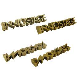 Großhandel Custom Metal Letter Label für Hangbag