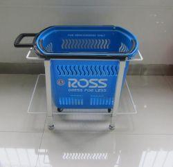 Cesta de Compras de supermercado de fio de metal Titular do empilhador