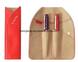Papeterie pliable en daim de luxe en cuir pochette crayon