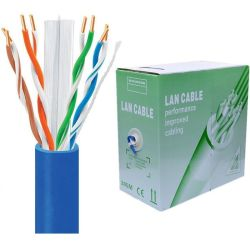 1000 pies (305m) CAT6 no blindado (UTP) PVC sólido Cable Ethernet de CMR