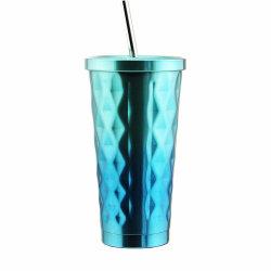 Dom coloridos Auto Aluguer de aço inoxidável 304 18/8 garrafa de água potável Caneca Cup 500ml