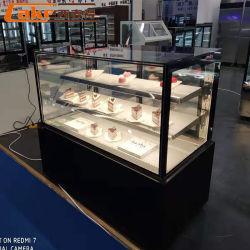 Visualizzazione della torta della vetrina del forno del congelatore della visualizzazione della torta del gelato