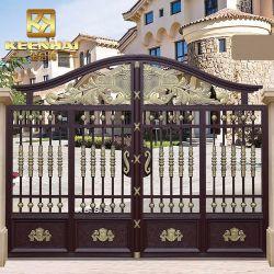 Cancello da giardino in alluminio rivestito in potenza e decorativo moderno (KH-GG006)