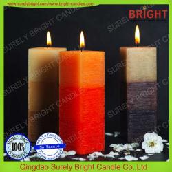 Norme de l'UE (SMDS, BSCI Cerification) de forme carrée pilier bougies