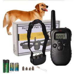 電池式の小売りのパッキングLCD表示100LVが付いている遠隔ペットトレーニングカラー300ヤードのレベル犬のトレーニングの動作カラー