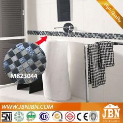バスルームボーダーライン、ストーン、樹脂、めっきガラスモザイク (M823044)