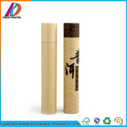 Emballage biodégradable personnalisé pour le thé du tube de papier kraft