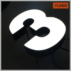 Пользовательский индикатор 3D наружной рекламы акриловый освещения входа письма