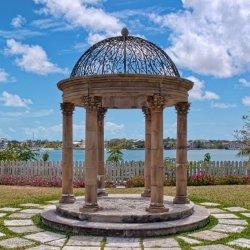 Gartenpavillon aus Stein aus Marmor für Den Antiken Außenbereich