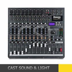 12チャネルの500Wによって動力を与えられる可聴周波ミキサー、音楽的なDJのミキサー