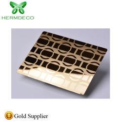 O BIS SGS Certified Gold Color Etch Design preço de fábrica de aço inoxidável