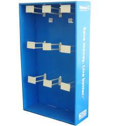 Het hoge Vakje van de Vertoning van de Vloer van Sidekick van het Karton van het Document van het Eind met Haak