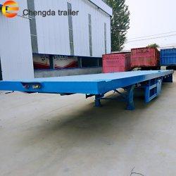 Aanhangwagen van de Container van 3 As van Chengda de Nieuwe Flatbed Semi voor Verkoop
