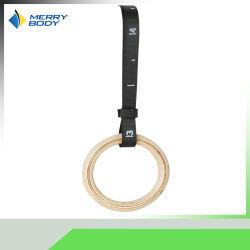 Correa de nylon anillos gimnasio Fitness Gimnasia de la cruz de madera de los Anillos