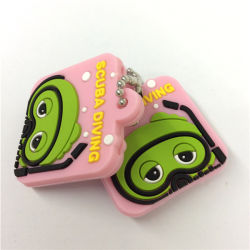 Personnaliser Cadeaux promotionnels Injection Silicone Key Ring