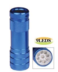 9LED LED-zaklamp met aluminium legering/LED-zaklamp