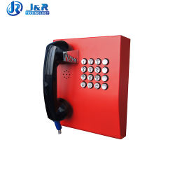 Resistente a vandalismo Telefone público de emergência SIP para banco ATM Jr207-FK