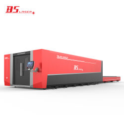 Umweltfreundliche geschlossene Typ-u. Ladeplatten-Wechsler-Faser-Laser-Ausschnitt-Metall-CNC-Maschine