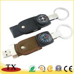 創造的な革コンパスUSBのフラッシュ駆動機構およびCompbum USB