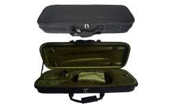 Rectangular de color negro de alta calidad de violín de peso ligero Estuche duro para la venta