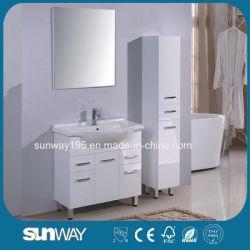 Heiße Verkaufs-wasserdichte moderne Fußboden-stehende Badezimmer-Eitelkeits-Möbel-volles Set