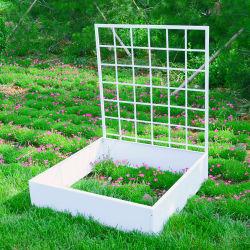 Het Bed van de Tuin van het metaal/Opgeheven Planter met Potten van de Bloem van /Outdoor van het Latwerk de Decoratieve