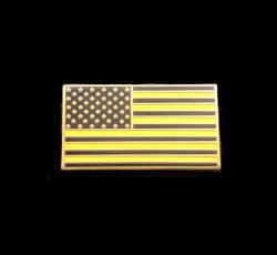 Les broches de métal plaqué slivoïde personnalisé de l'émail doux d'un drapeau Épinglettes
