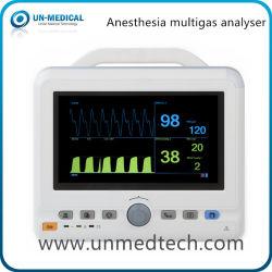 Utilização médica Tampo da anestesia 7 polegadas Multi analisador de gases