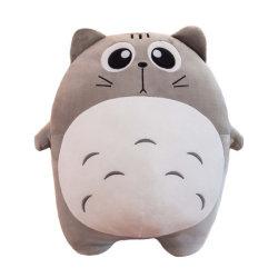 40cm Niedliche weiche gefüllte Tier Kawaii Aufblasbare Kinder Spielzeug niedlich Peluches Nickerchen schlafen 3 in 1 Eichhörnchen mit Decke Plüsch Baby Spielzeug Katze Kissen für Büro