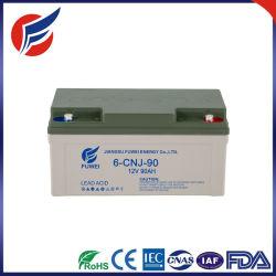 12V 90Ah de Almacenamiento de Energía Solar de batería de plomo ácido