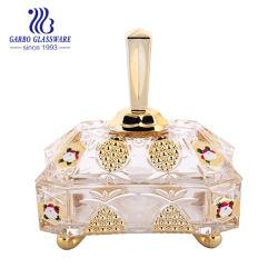 Vidrio Decorativo tarro de vidrio dorado caramelo Home Tableware (GB1802P-dn)