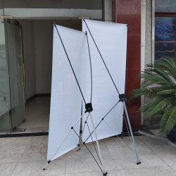 Commerce de gros de la promotion de la bannière de taille standard portable en PVC noir signe de châssis de la bannière de fer Stand X