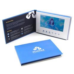 Écran LCD 7 pouces de gros Facevideo Outil de marketing Hardcover Vidéo Brochure livret numérique d'impression de cartes Cadre Photo Numérique